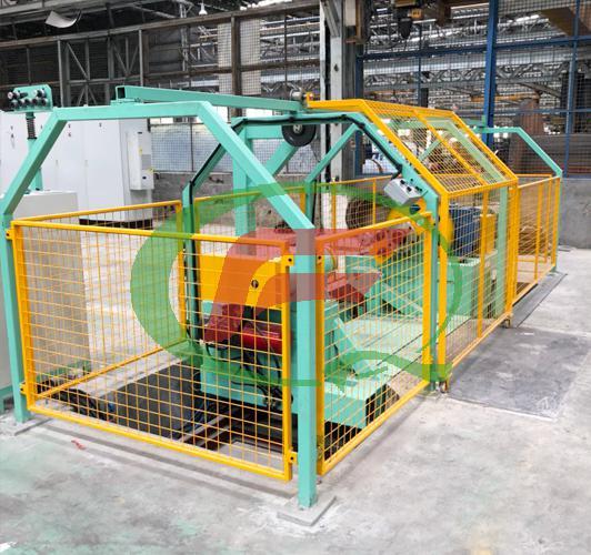 Aluminium clad steel wire winding machine